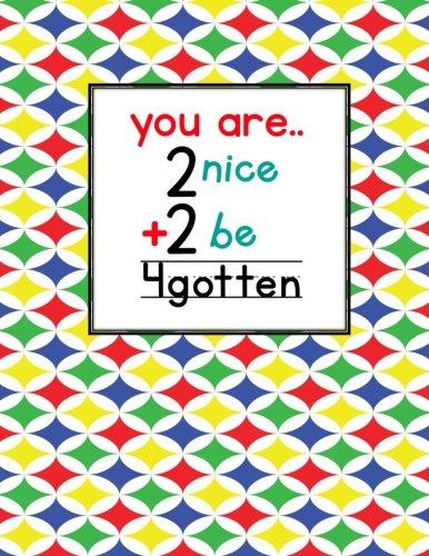 Teacher Thank You - You Are 2 Nice 2 Be 4gotten: Teacher Notebook - Journal or Planner for Teacher Gift: Great for Teacher Appreciation/Thank You/Retirement/Year End Gift - Multi Color Stars - Caterpillar Mug