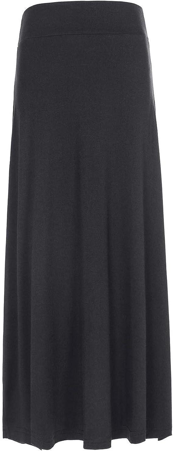 Kids Girls Plain Long Maxi Skirt Child Uniform Dress Cotton Stretch Party Casual