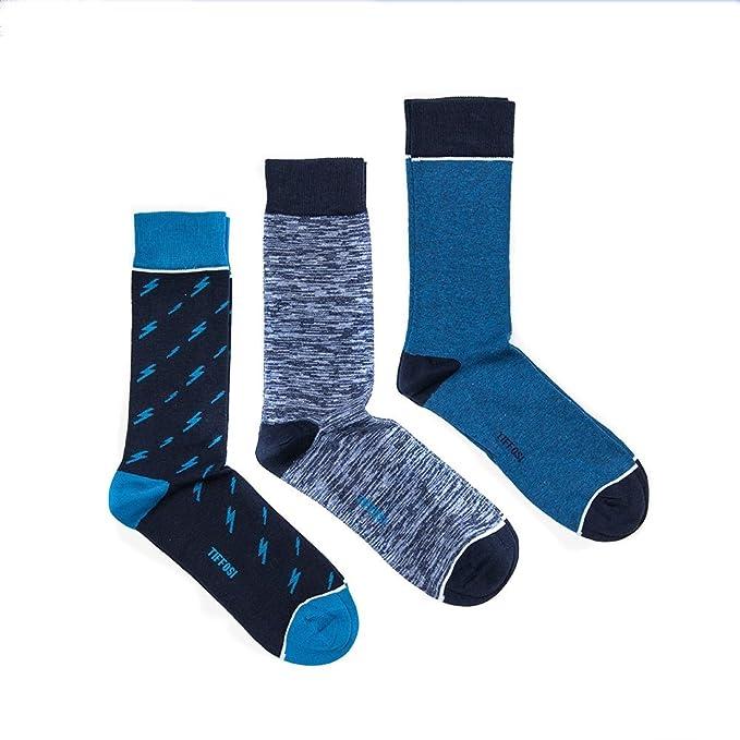 Tiffosi Thunder Pack - Calcetines para hombre, talla 40-44, color 799 BLUE: Amazon.es: Ropa y accesorios