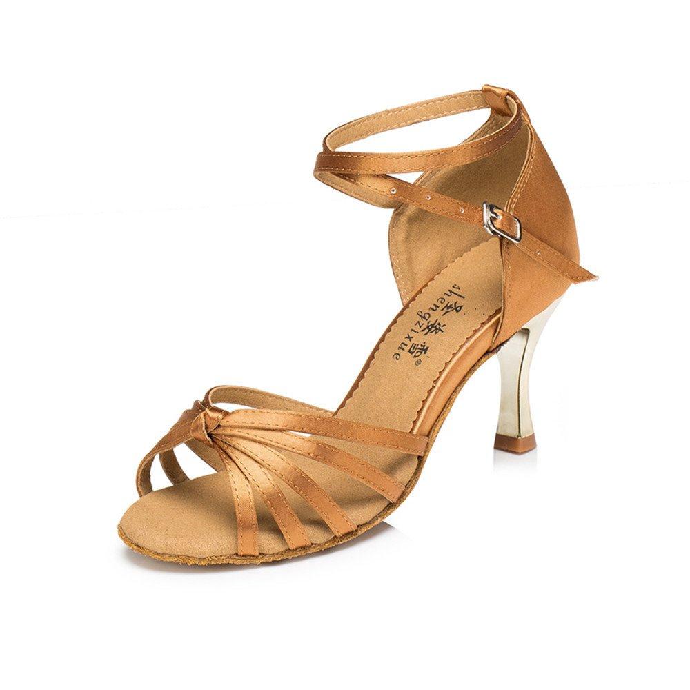 marron 37 EU Femmes Chaussures De Danse De Bal Chaussures Chocolat D'Amérique Latine