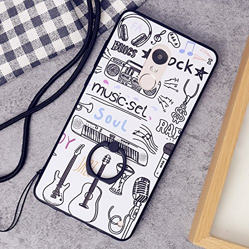 Protective Bumper Note 4X Redmi 360 With Tower Redmi or Covers Xiaomi Holder Phone Design Cases Eiffel Cute Ring Case For Degree Lanyard Rotating Leaf And Hard Dress 4X TPU For Cartoon Xiaomi Note q1AYqa0x