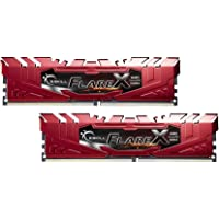 G.SKILL Flare X Series 16GB (2 x 8GB) DDR4 288-Pin DIMM Desktop Memory (Red)