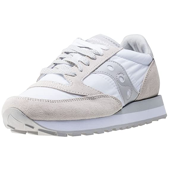 saucony jazz white grey