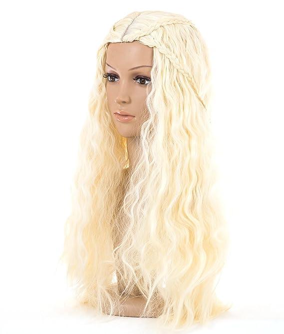 Spretty Peluca sintética de las mujeres cosplay peluca larga pelo rizado mullidas mullidas en color beige: Amazon.es: Belleza