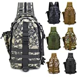 LUXHMOX Fishing Backpack Waterproof Tackle Bag Fishing Gear Storage Outdoor