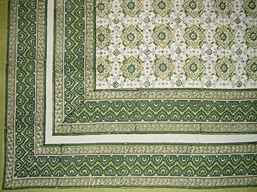 Tile Block Print Tapestry Cotton Spread 106
