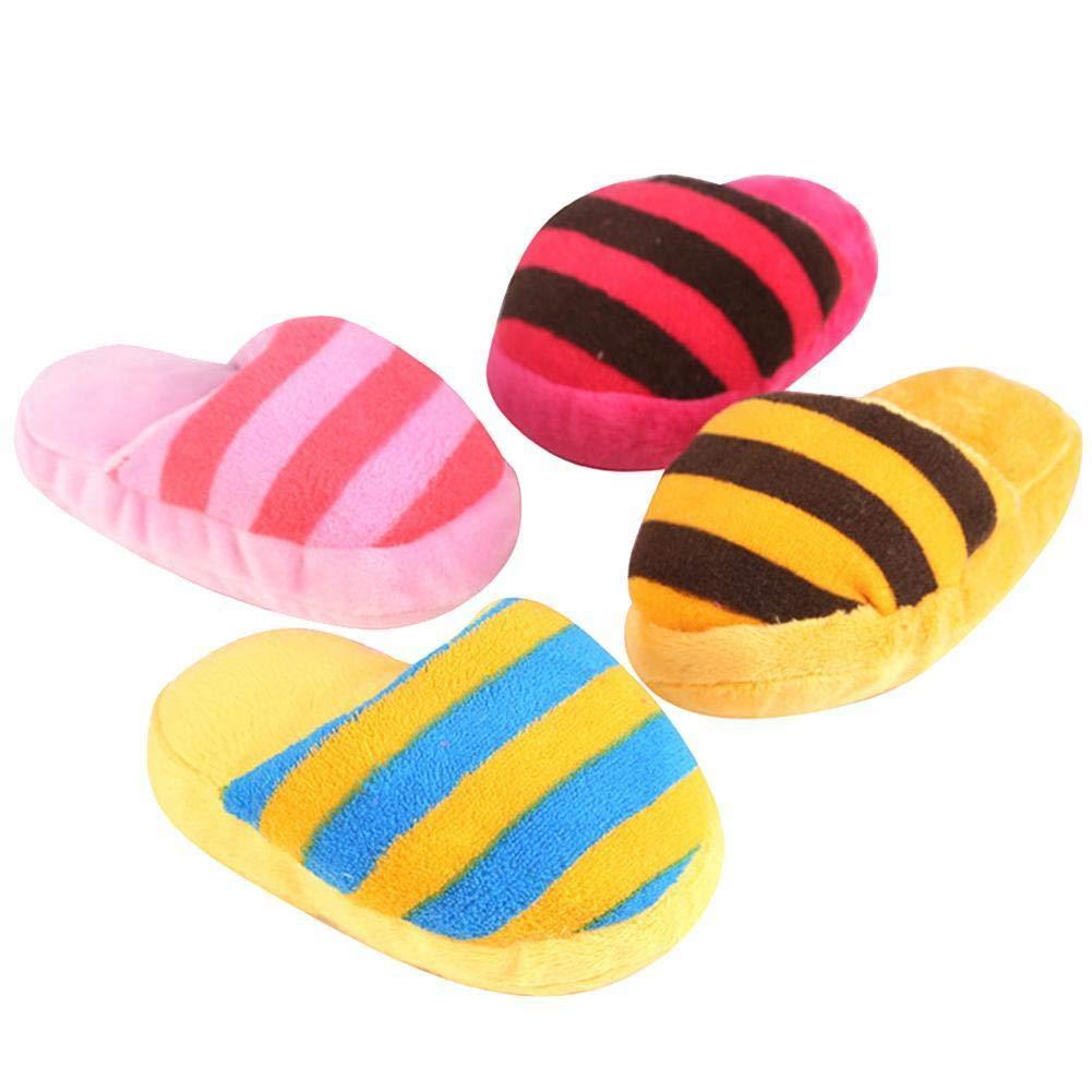 Cool Ring Cute Puppy Dog Kauen Sound Spielzeug Plüsch Hausschuhe Form Geschenk Durable Zähne Reinigung Schuhe Farbe Zufällig
