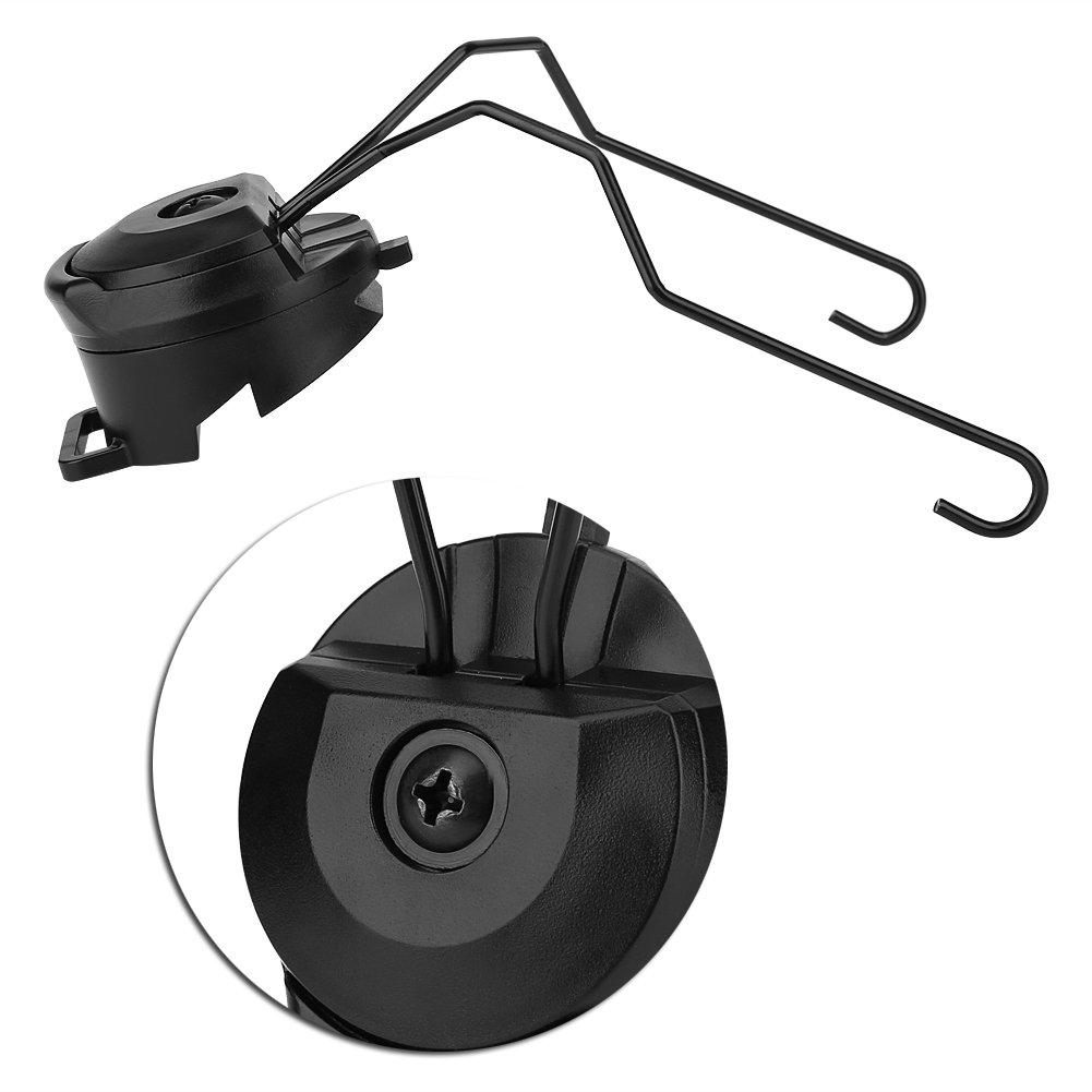 Tbest Adaptador de Riel de Casco 1 par Helmet Rail Adapter Adaptador de Carril de Casco T/áctico de Airsoft ARC Adaptador de Riel de Auriculares Soporte para R/ápido Peltor ACH Mich IBH
