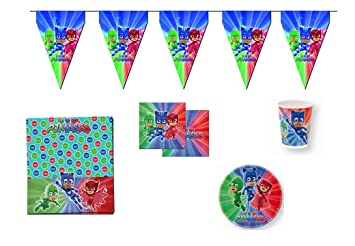 ALMACENESADAN Disney, pj masks, 0207, Lote para fiestas y cumpleaños; 8 vasos
