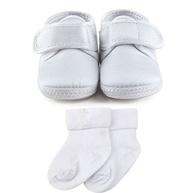 Amazon Com Delebao Baby Infant Satin Christening Baptism Shoes