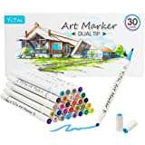 Art Markers,30 Colors Dual Tip Alcohol Marker, Permanent Art Markers for Kids, Highlighter Pen Sketch Markers for…