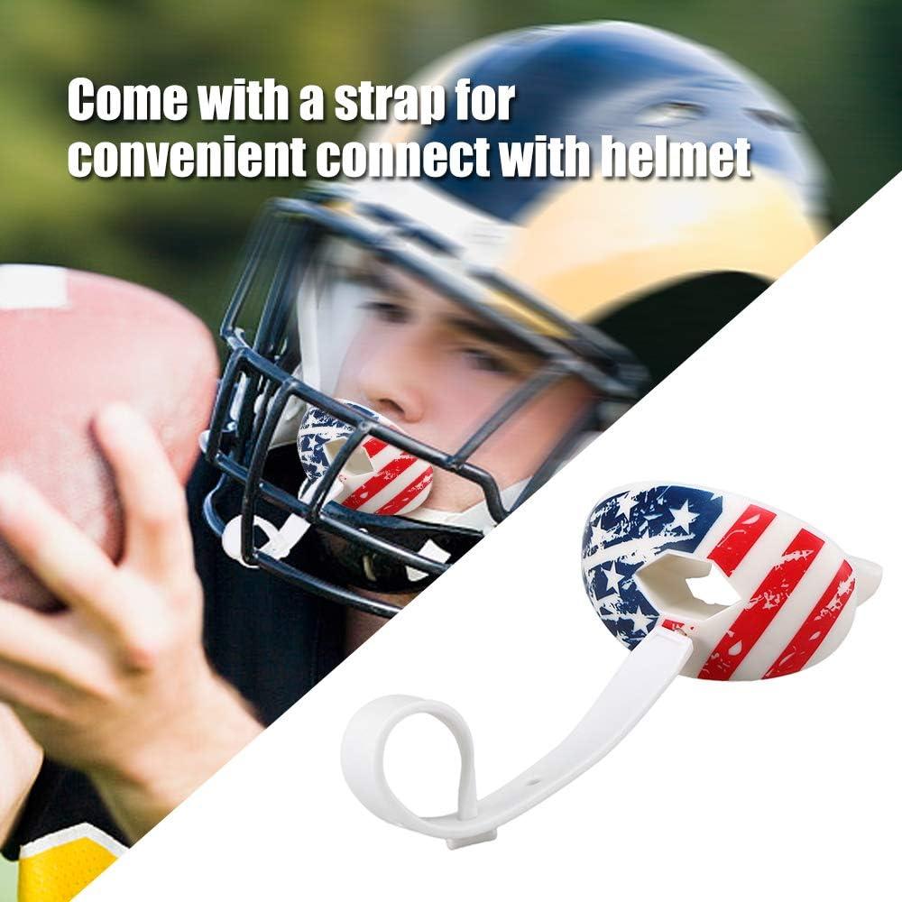 Walmeck Protecciones de Rugby Dientes de Grado alimenticio Protector de Labios de f/útbol Americano Dientes orales