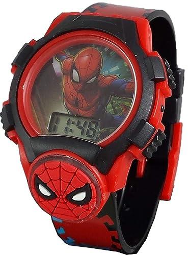 Marvel Spiderman - Reloj Digital para niños Thwip con Cara de luz e Icono: Amazon.es: Relojes