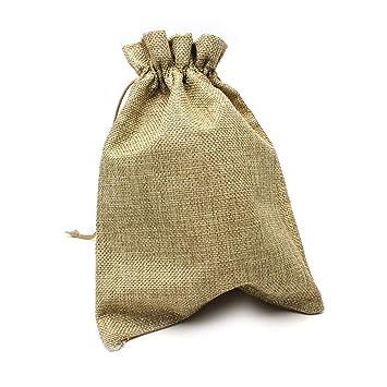 RUBY - 20 Bolsas de arpillera con cordón 23 x 17cm, Bolsitas ...