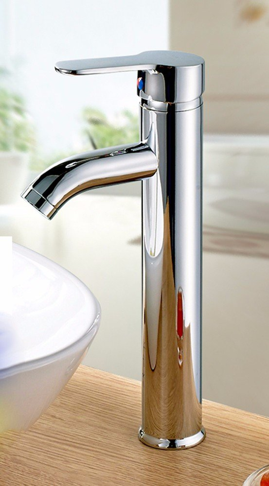 AWXJX Stainless copper hot and cold washbasin click the handle Single Hole a raised sink and faucet