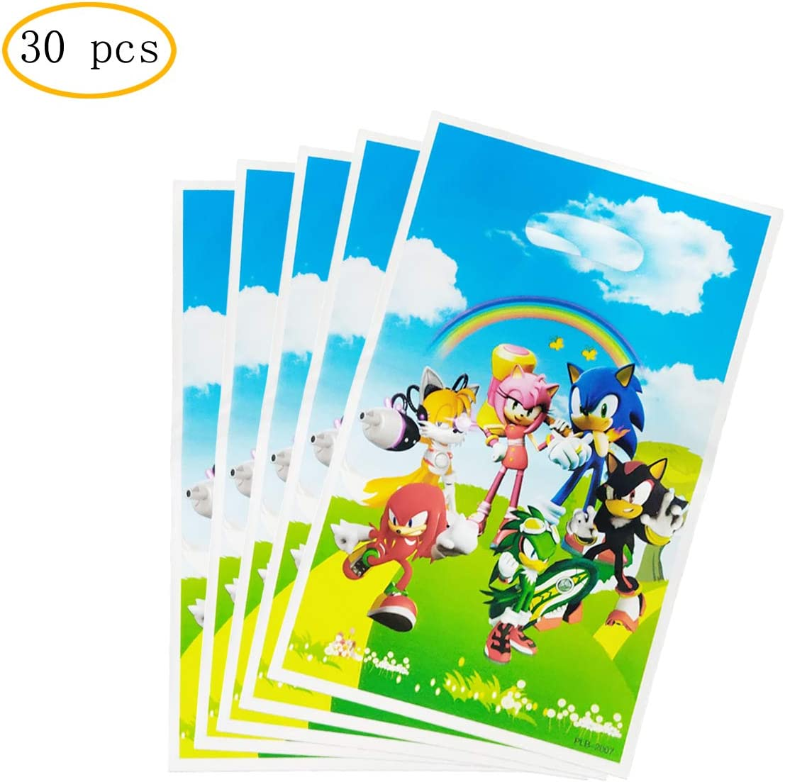 Amazon Com 30 Pcs Sonic The Hedgehog Gift Bags Sonic The Hedgehog Themed Party Supplies Health Personal Care