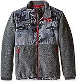 The North Face Boy's Denali Jacket Graphite Grey Mesh Camo Size Medium