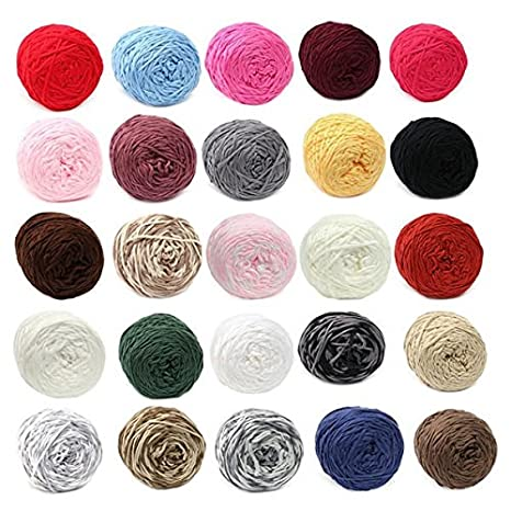 Amazon.com: Arts, Crafts & Sewing - 200g 25 Color Soft Cotton Hand Knitting Yarn Smooth Wool Yarn Ball Wool Scarf Baby Clothes - Soft Cotton Knitting Yarn ...