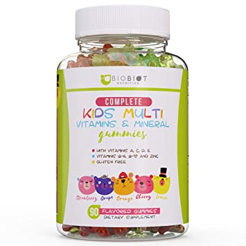 2bad00ba33c1 Advanced Biobiot Multivitamin Gummies for Kids - Gummy Bears for Children  with Minerals and Vitamins B