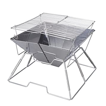 magicook portable bbq grill charcoal grill stainless steel folding grills for outdoor camp garden barbeque - Stainless Steel Charcoal Grill