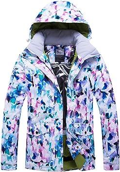 GTTBS-ski Chaqueta de Esquí para Mujer Traje de Esquí Damas Ropa ...