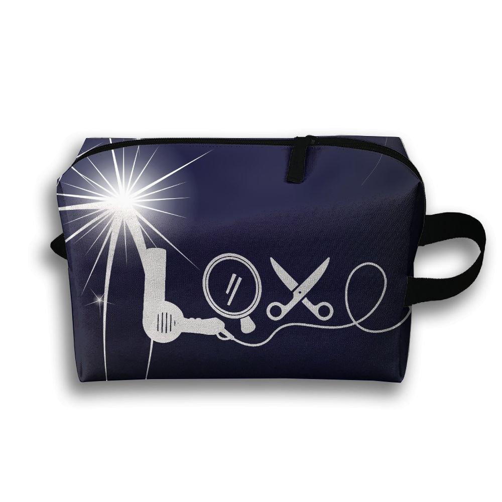 Love Dryer Mirror Scissors Travel Bag Multifunction Portable Toiletry Bag Organizer Storage