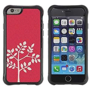 Suave TPU GEL Carcasa Funda Silicona Blando Estuche Caso de protección (para) Apple Iphone 6 PLUS 5.5 / CECELL Phone case / / Tree Pattern Leaves Nature Minimalist /