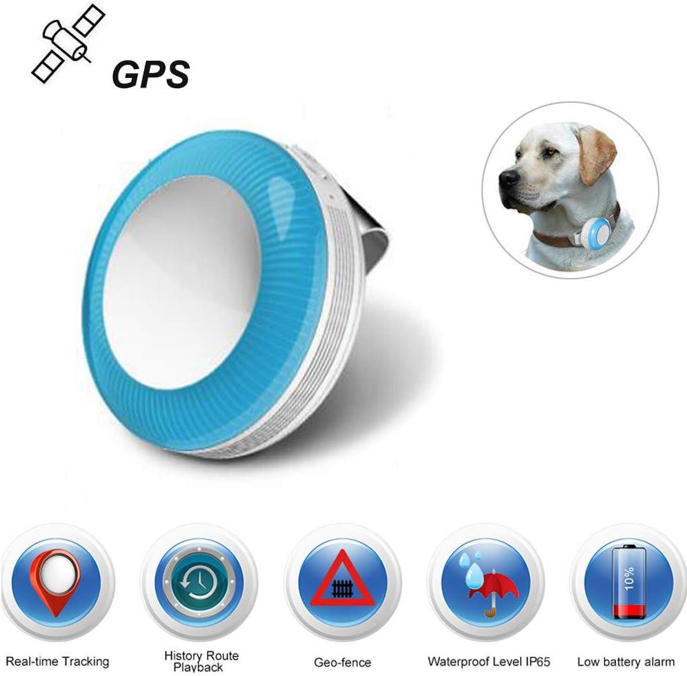Mini Localizador GPS, GPS Tracker para Mascotas Perros/Seguimiento en Tiempo Real/Geo-Valla/Historia Ruta / IP65 Impermeable / 2 vías Llamada/Monitor Función TK925
