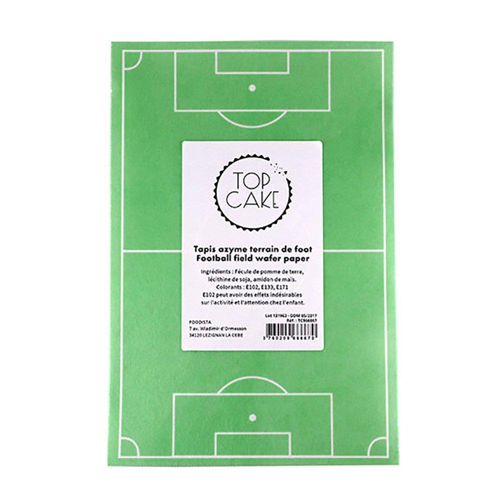 Terrain de foot en sucre (20 x 30 cm): Amazon.es: Juguetes y ...