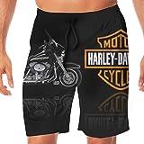 Harley Davidson Logo Men's Beach Pants Swim Trunks Quick Dry Beachwear Sports Running Swim Board Shorts