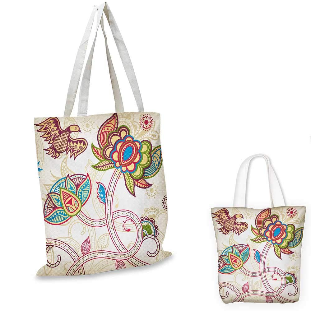 Amazon com: Floral small clear shopping bag Ethnic Mosaic