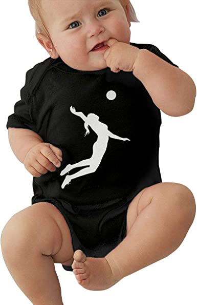 Comfortable I Love Volleyba Cotton Romper Newborn Baby Girls Boys Long Sleeve Bodysuit