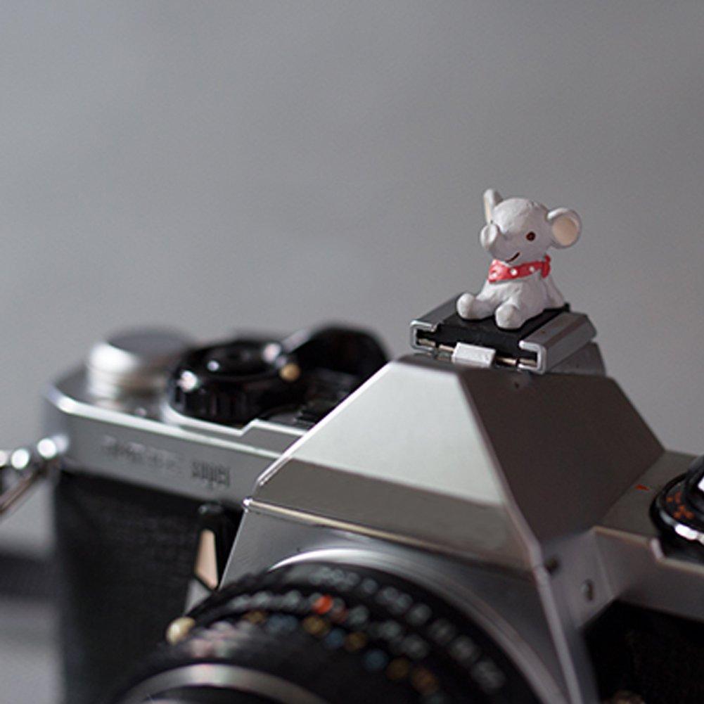 OLizee ™かわいいクリエイティブcartoon-shapedカメラホットシューカバーキャップ(象) B019XHDK5W