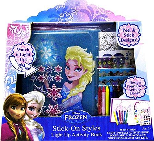 Tara Toy Frozen Stick-on-styles Light up Activity Book Pkg/6 by Tara Toys