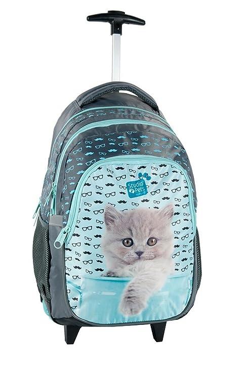 dec53486b0 Studio Pets Gatto Blu zaino trolley scuola, ragazza, bambina: Amazon ...