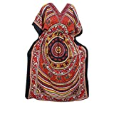 Womens Caftan Red Elephant Dancing Printed Cover Up Kaftan Maxi Dresses XXL