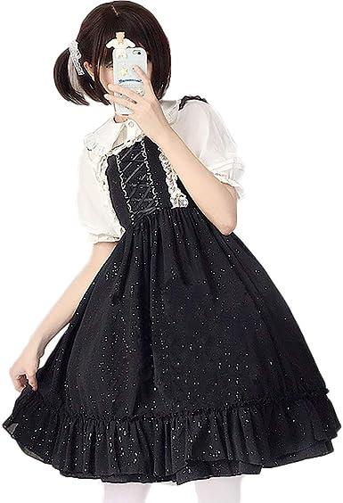Robe Lolita Robe En Mousseline De Soie Constellation En Chiffon Avec Feuille De Lotus Black Amazon Fr Vetements Et Accessoires