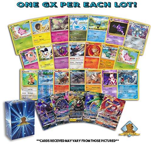 Pokemon 100 Card Lot with Bonus 5 Rares 3 Foils 1 Holo Rare 1 GX Ultra Rare! Includes Golden Groundhog ()