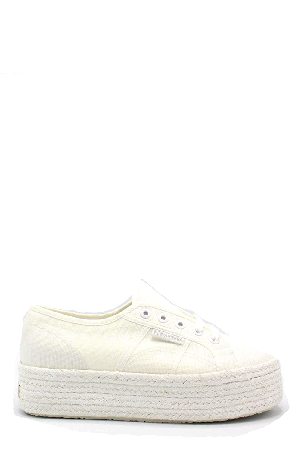 Superga Womens 2790 Cotcoloropew Canvas Trainers 40 EU|White