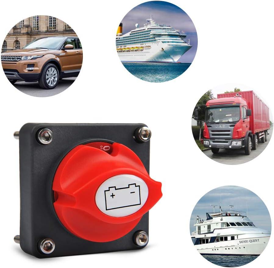 interrupteur de d/éconnexion de batterie 12 V, 24 V, 48 V, 350 A Interrupteur de coupure de batterie interrupteur de coupure dalimentation pour voiture bateau moto