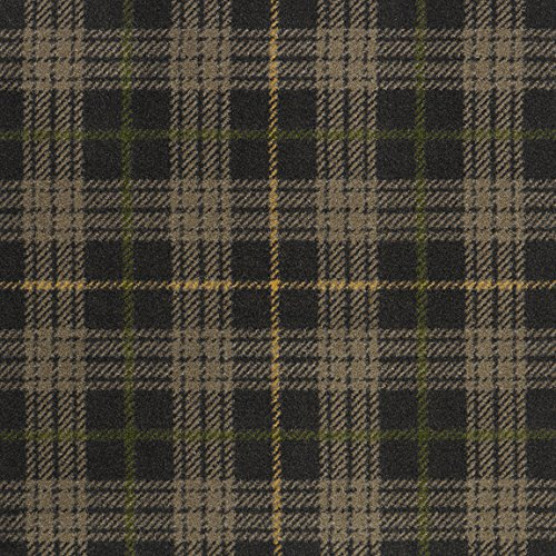 - Bit O' Scotch Plaid Pattern Indoor 26oz Cut Pile Area Rug (7' Round, Bark Brown)