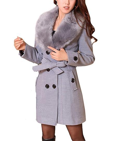 Femme Caban Femme Chaud Manches Longues Manteau d'hiver