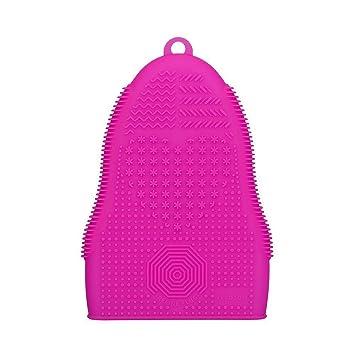 silicone makeup brush cleaner. kedsum silicone makeup brush cleaning mat, cleaner with handy hook, washing a