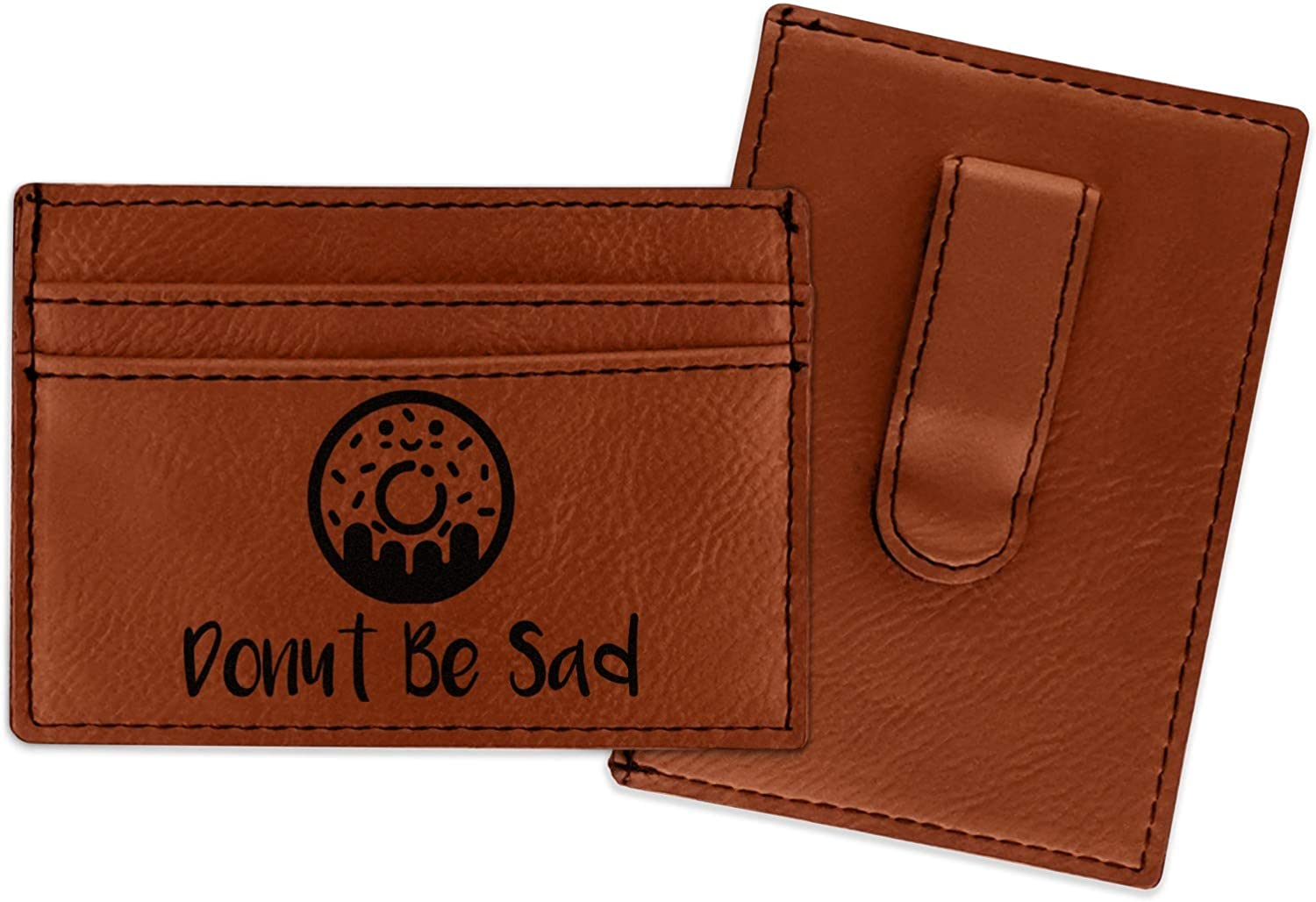 Personalized Donuts Genuine Leather Mens Bi-fold Wallet
