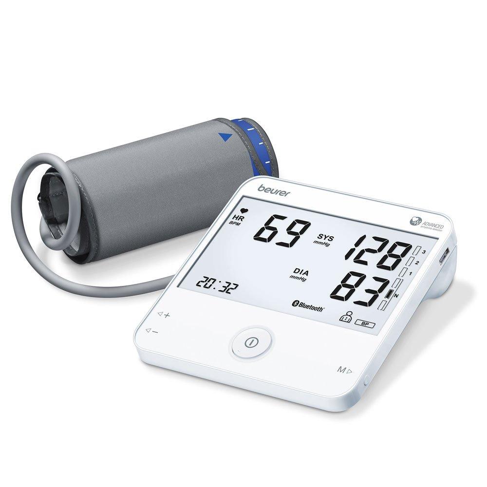Beurer BM95 - Tensiómetro de brazo con función ECG, memoria 2 x 60 mediciones, compatible con App
