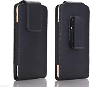 DESHENG Smartphone Protective Clips Men Leather Belt Clip Holster Pouch Case for iPhone 6,6s,12 Mini,SE (2020), Cellphone Pouch Case Cover,Magnetic Flap Phone Bag