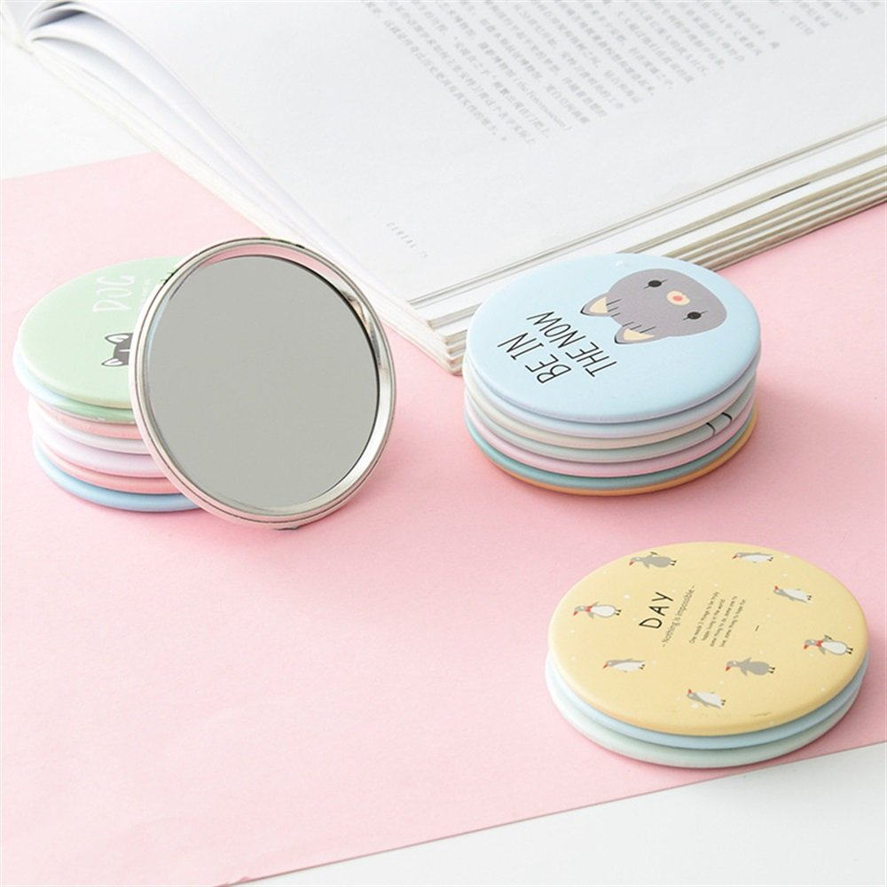 Yingealy Childrens Mirror Mini Round Cartoon Goose Pattern Small Glass Mirrors Circles for Crafts Decoration Cosmetic Accessory by Yingealy (Image #3)