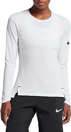 Nike W Nk Brthe LS Elite Camiseta de Manga Larga de Baloncesto ...