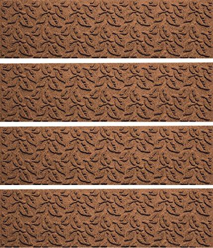 (Bungalow Flooring Waterhog Indoor/Outdoor Stair Treads, Set of 4, 8-1/2