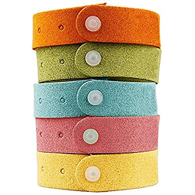 Fakon Best Mosquito Repellent Bracelet 7 Pack- Natural Deet-Free Insect Bug Repellent Bands,Non-Toxic Safe For Kids,Indoor Outdoor Protection,Protection Up To 300 Hours